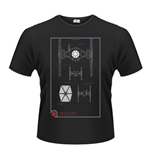 Star Wars The Force Awakens T-shirt Tie Fighter Maintenance Manual