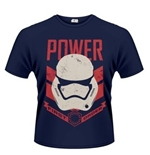 Star Wars The Force Awakens T-shirt Stormtrooper Power First ORDER...