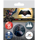 Batman v Superman Pin Badges 5-Pack Superman