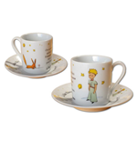 The Little Prince Espresso Mugs Set Stars *French Version*