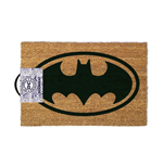 DC COMICS Batman Main Logo Door Mat, Tan