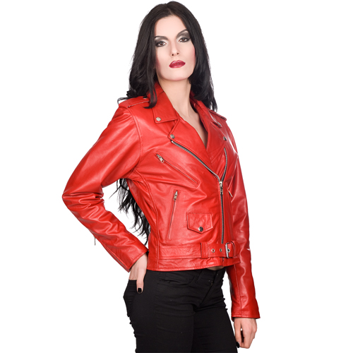 Mode Wichtig Ladys Brando Jacket Nappa Leather