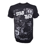 Star Trek  T-shirt - Black Comic Book Cover