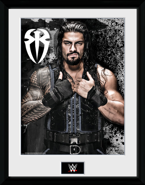 WWE Roman Reigns Photo Framed Collector Print