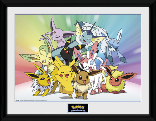 Pokemon Eevee Framed Collector Print