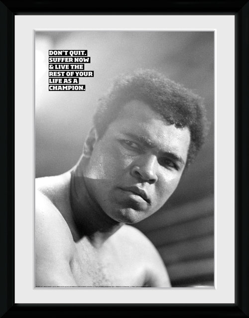 Muhammad Ali I Dont Quit Framed Collector Print