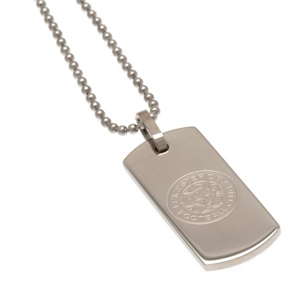Leicester City F.C. Narrow Dog Tag & Chain