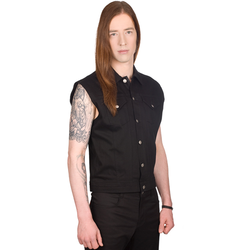 Black Pistol Jeans Vest Denim
