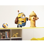 Minions Wall Stickers Fire Hydrant