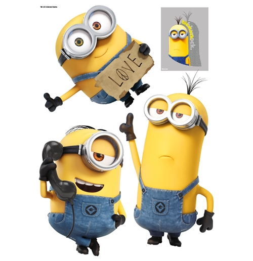 Minions Wall Stickers Stuart Kevin E Bob For Only 1632 At MerchandisingPlaza US