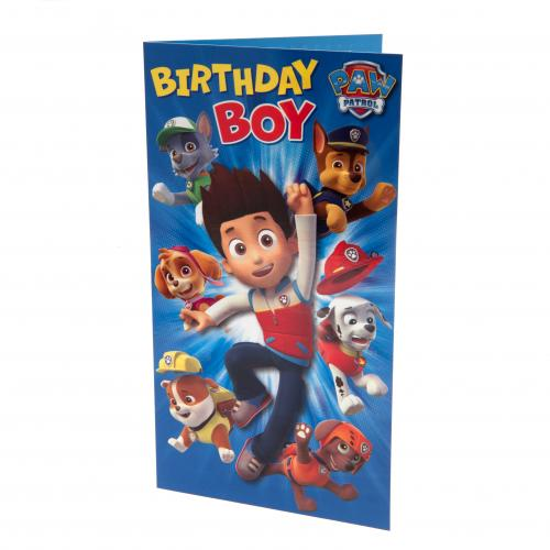 Paw Patrol Birthday Card Boy