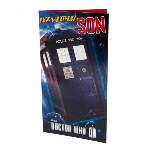 Doctor Who Birthday Card Son