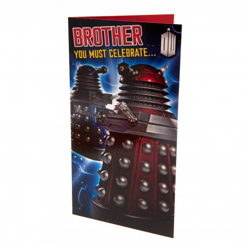 Doctor Who Birthday Card Brother