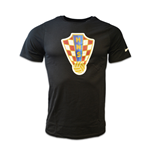 2016-2017 Croatia Nike Core Crest Tee (Black) - Kids