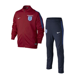 2016-2017 England Nike Knit Tracksuit (Red) - Kids