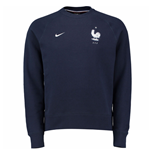 2016-2017 France Nike AW77 LS Crew Sweater (Navy)