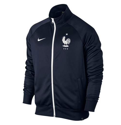 2016 2017 France Nike Core Trainer Jacket (Navy) Kids