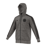 2016-2017 Germany Adidas 3S Hooded Zip Top (Grey)
