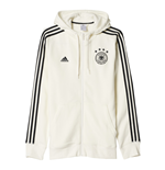 2016-2017 Germany Adidas 3S Hooded Zip Top (White)