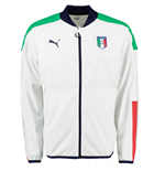 2016-2017 Italy Puma Stadium Jacket (White) - Kids