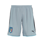 2016-2017 Italy Puma Home Goalkeeper Shorts (Blue Fog) - Kids