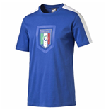 2016-2017 Italy Puma Fanwear Badge Tee (Blue) - Kids