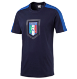 2016-2017 Italy Puma Fanwear Badge Tee (Peacot) - Kids