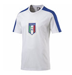 2016-2017 Italy Puma Fanwear Badge Tee (White) - Kids