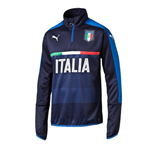 2016-2017 Italy Puma Quarter Zip Training Top (Navy)