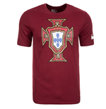 2016-2017 Portugal Nike Crest Tee (Red)