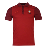 2016-2017 Portugal Nike Authentic Polo Shirt (Red)