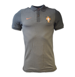 2016-2017 Portugal Nike Authentic Polo Shirt (Black)