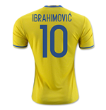 2016-2017 Sweden Home Adidas Shirt (Ibrahimovic 10) - Kids
