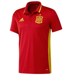 2016-2017 Spain Adidas Climalite Polo Shirt (Red)