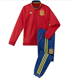 2016-2017 Spain Adidas PES Tracksuit (Red) - Kids