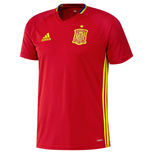 2016-2017 Spain Adidas Training Jersey (Red) - Kids