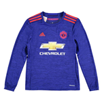 2016-2017 Man Utd Adidas Away Long Sleeve Shirt (Kids)