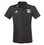 2016-2017 Olympique Lyon Adidas Polo Shirt (Black)