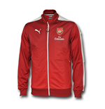 2016 Arsenal Puma Stadium Jacket (Rio Red) - Kids