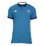 2016-2017 England Rugby Stripe Polo Shirt (Blue)