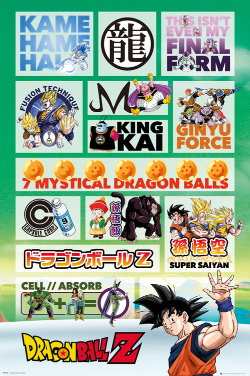 Dragonball Z Infographic Maxi Poster