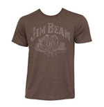 Men's JIM BEAM Brown T-Shirt