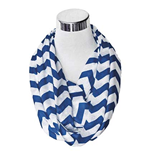Navy And White Flask Scarf