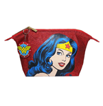Wonder Woman Face Glitter Wash Bag