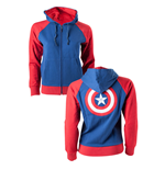 Captain America Ladies Hooded Sweater Shield Logo