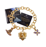 Harry Potter Charm Bracelet Lumos Hufflepuff (gold plated)
