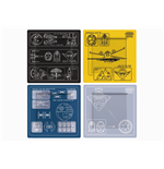 Star Wars Coaster 4-Pack Blueprints