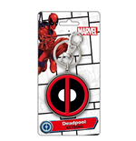 Deadpool Keychain - Logo Colour Pewter