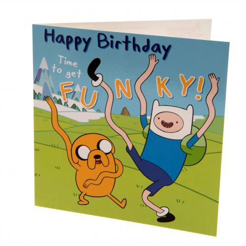 Adventure Time Birthday Card