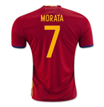 2016-2017 Spain Home Shirt (Morata 7) - Kids